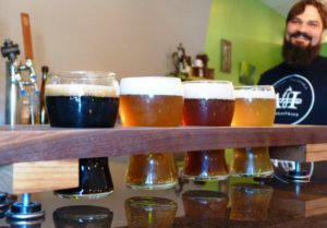 Wages Brewing Company, West Plains MO, Flight of Brews to enjoy